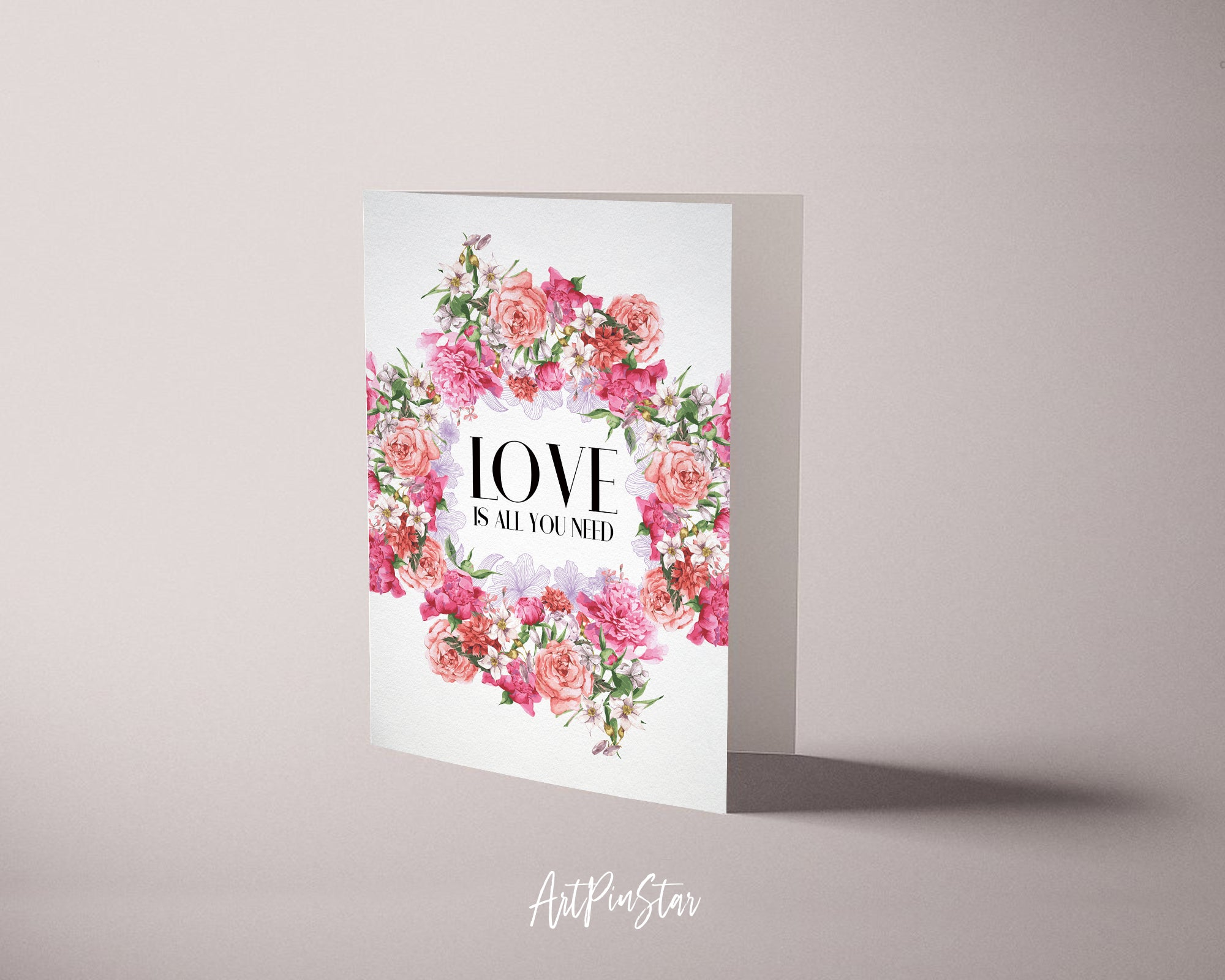 Love Is All You Need Happiness Quote Customized Greeting Cards