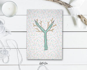 Alphabet Forest Letter Y Animal Monogram Note Cards