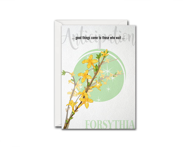 Forsythia Flower Meanings Symbolism Customized Gift Cards