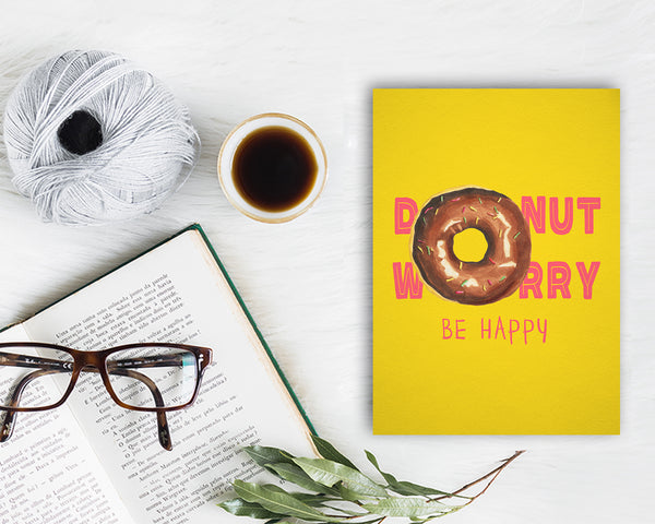 Donut Worry Be Happy Food Customized Gift Cards