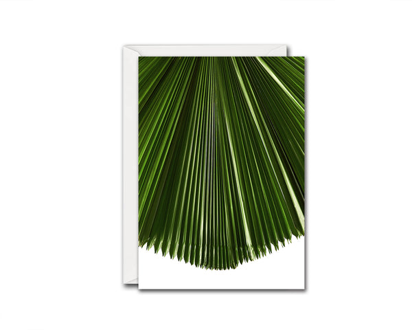 Licuala Grandis or Ruffled Fan Palm Leaf Botanical Garden Customized Greeting Card