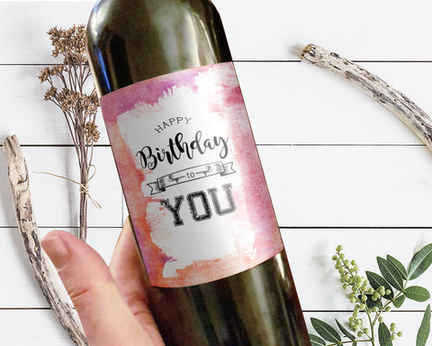 Happy Birthday To You Holiday Customizable Label