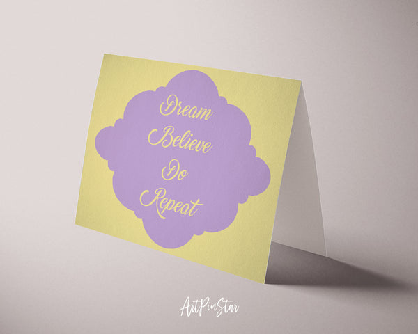 Dream believe do repeat Bible Verse Customized Greeting Card