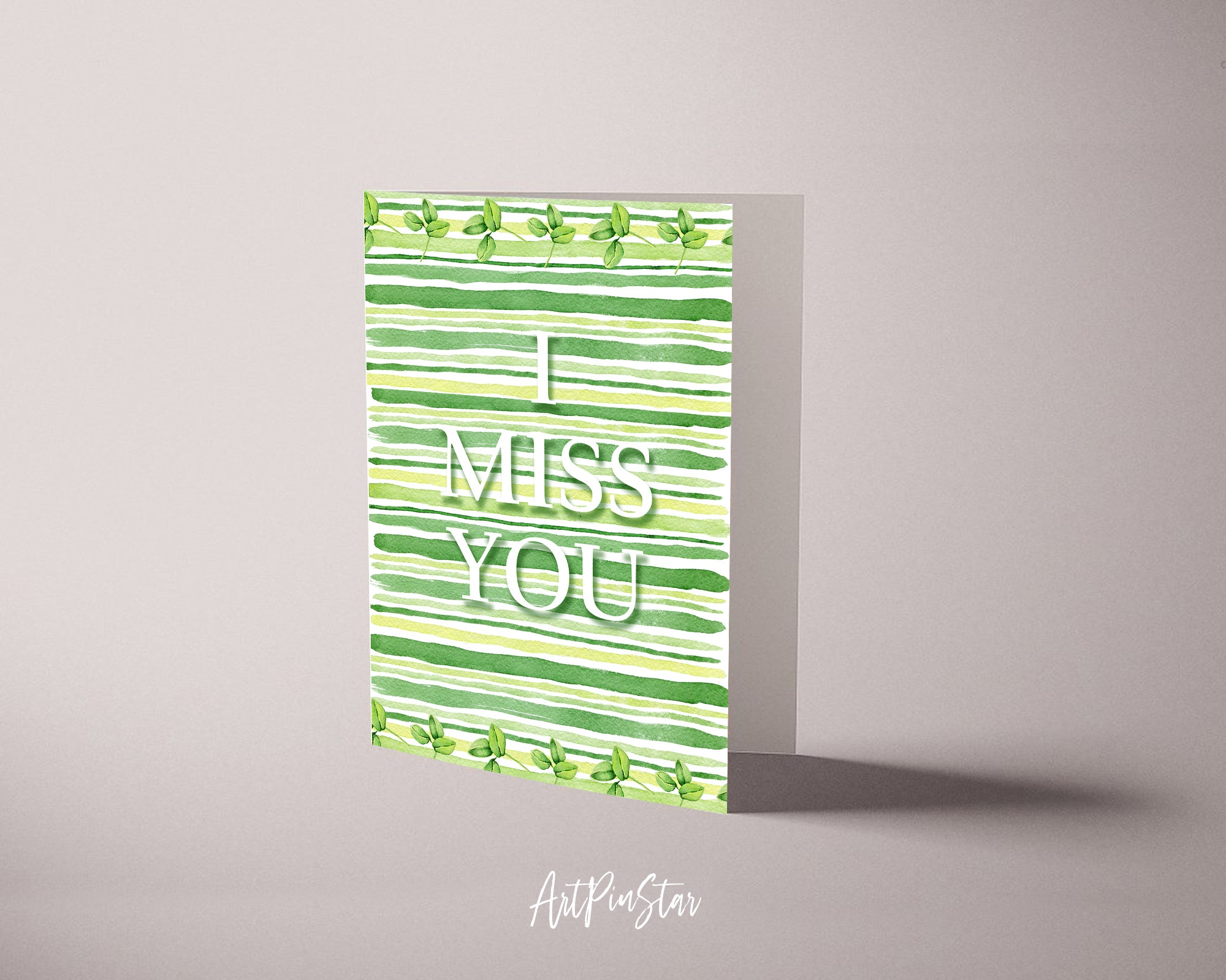 I miss you Happiness Quote Customized Greeting Cards