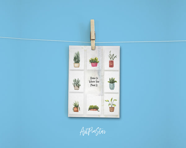 Home is where you plant it Botanical Garden Customized Greeting Card