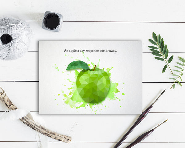 An apple a day keeps the doctor away Food Customized Gift Cards