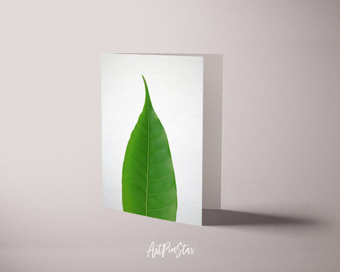 Green Leaf Botanical Garden Customized Greeting Card