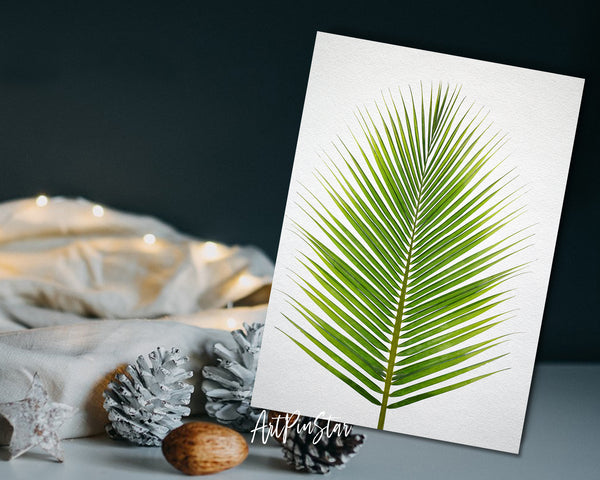 The coconut palm leaves Botanical Garden Customized Greeting Card