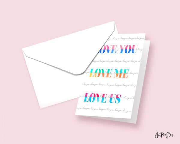 Love you love me love us Joan Jett Happiness Quote Customized Greeting Cards