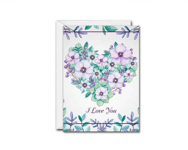I love you Friendship Customized Greeting Card
