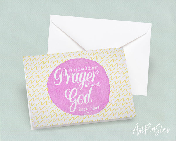 When you can't put your prayer into words Bible Verse Customized Greeting Card