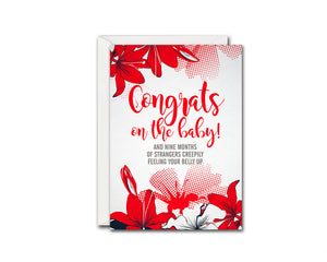 Congrats On The Baby Boy Birth Announcements Customized Gift Cards