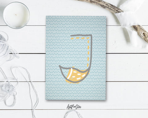 Alphabet Forest Letter J Animal Monogram Note Cards