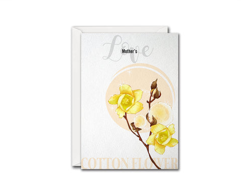 Cotton Flower Meanings Symbolism Customized Gift Cards