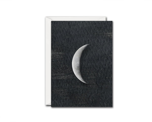 Waning Crescent Moon Phases Customizable Greeting Card