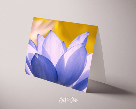 Lotus Flower Photo Art Customized Gift Cards