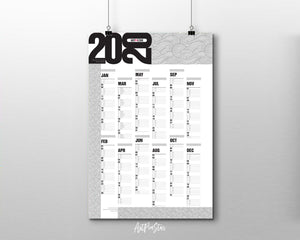2020 Yearly Modern Customizable Year Planner at a Glance Wall Calendar