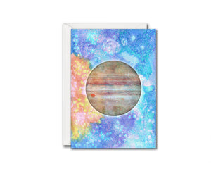 Jupiter Planet Watercolor Galaxy Space Customizable Greeting Card