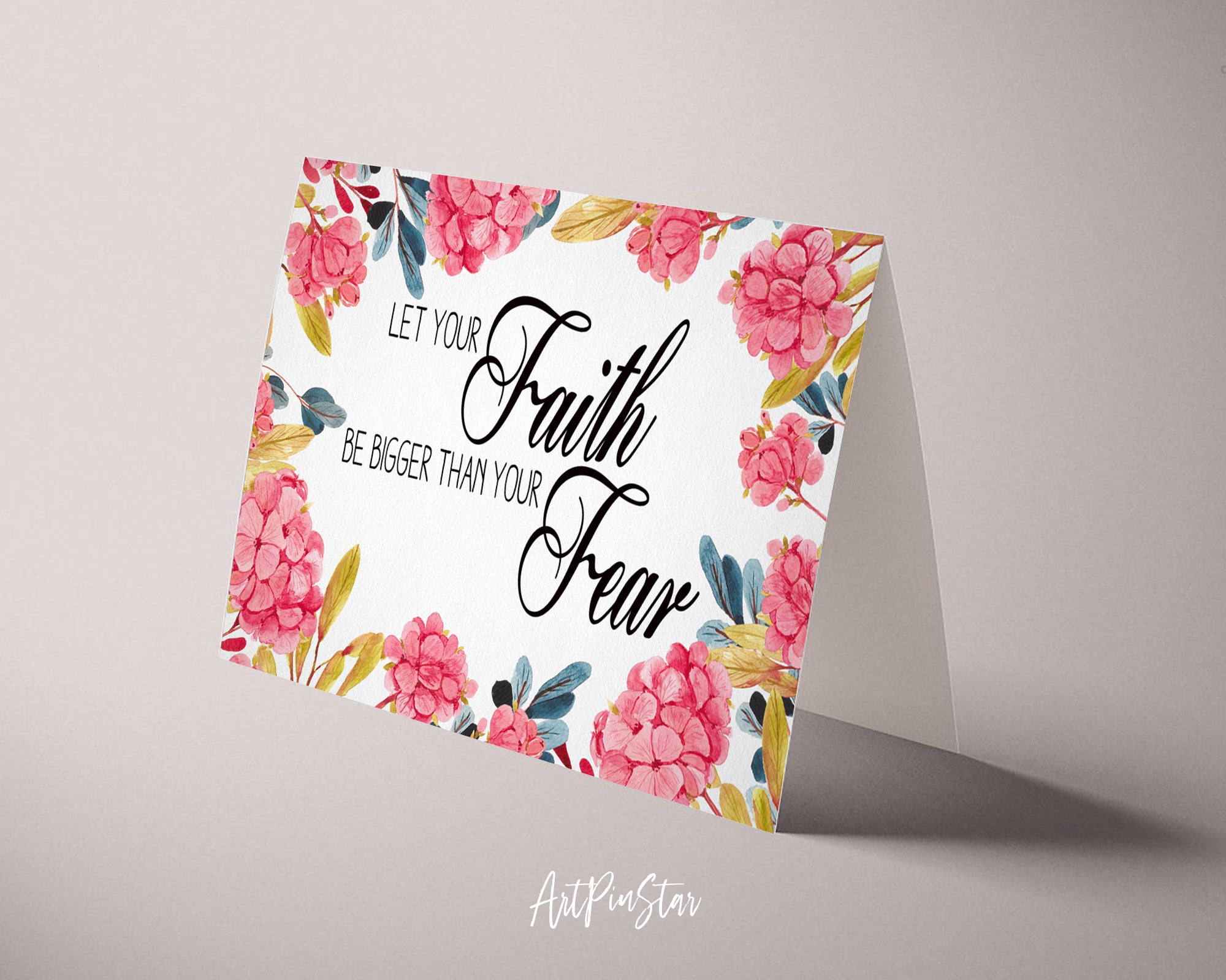 Let your Faith be bigger than your fear Bible Verse Customized Greeting Card