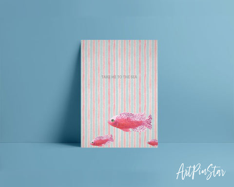 Take me to the sea Fish Animal Greeting Cards