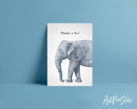 Thanka a ton Elephant Animal Greeting Cards