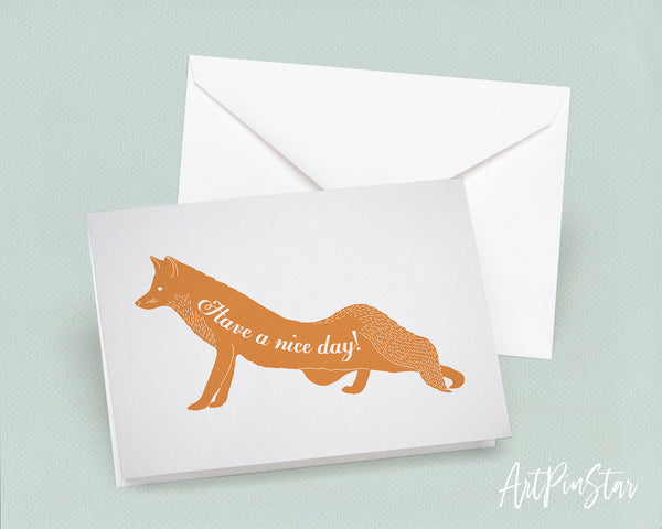 Have a nice day Fox Animal Greeting Cards