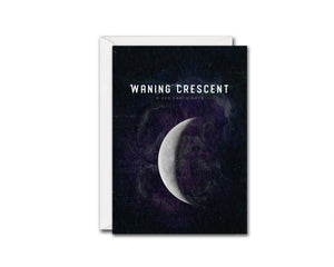 Waning Crescent Moon Lunar Phases Customizable Greeting Card