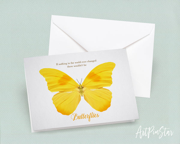 If nothing in the world ever changed there wouldn't be butterflies Bird Animal Greeting Cards