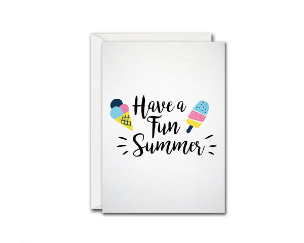 Have a fun summer Food Customized Gift Cards