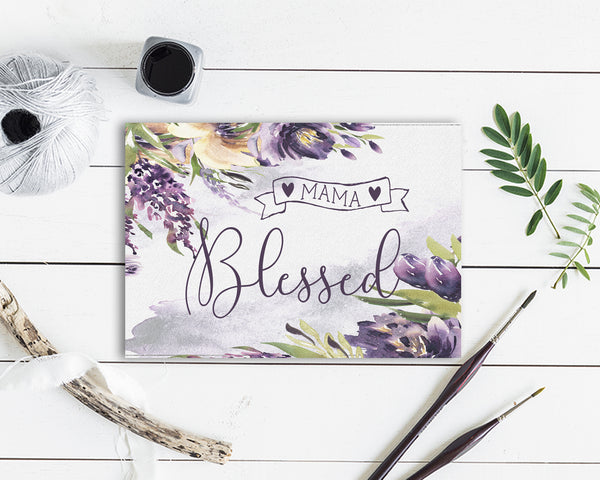 Blessed MAMA Mother's Day Occasion Greeting Cards
