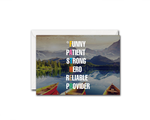 Father Funny Patient Strong Hero Reliable Provider Father's Day Occasion Greeting Cards