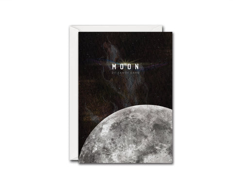 Moon Moon Lunar Phases Customizable Greeting Card