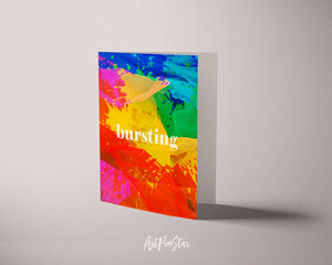 Bursting Artwork Greeting Cards Personalized Art Prints Posters