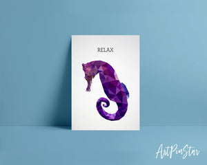 Relax Horse Fish Animal Greeting Cards