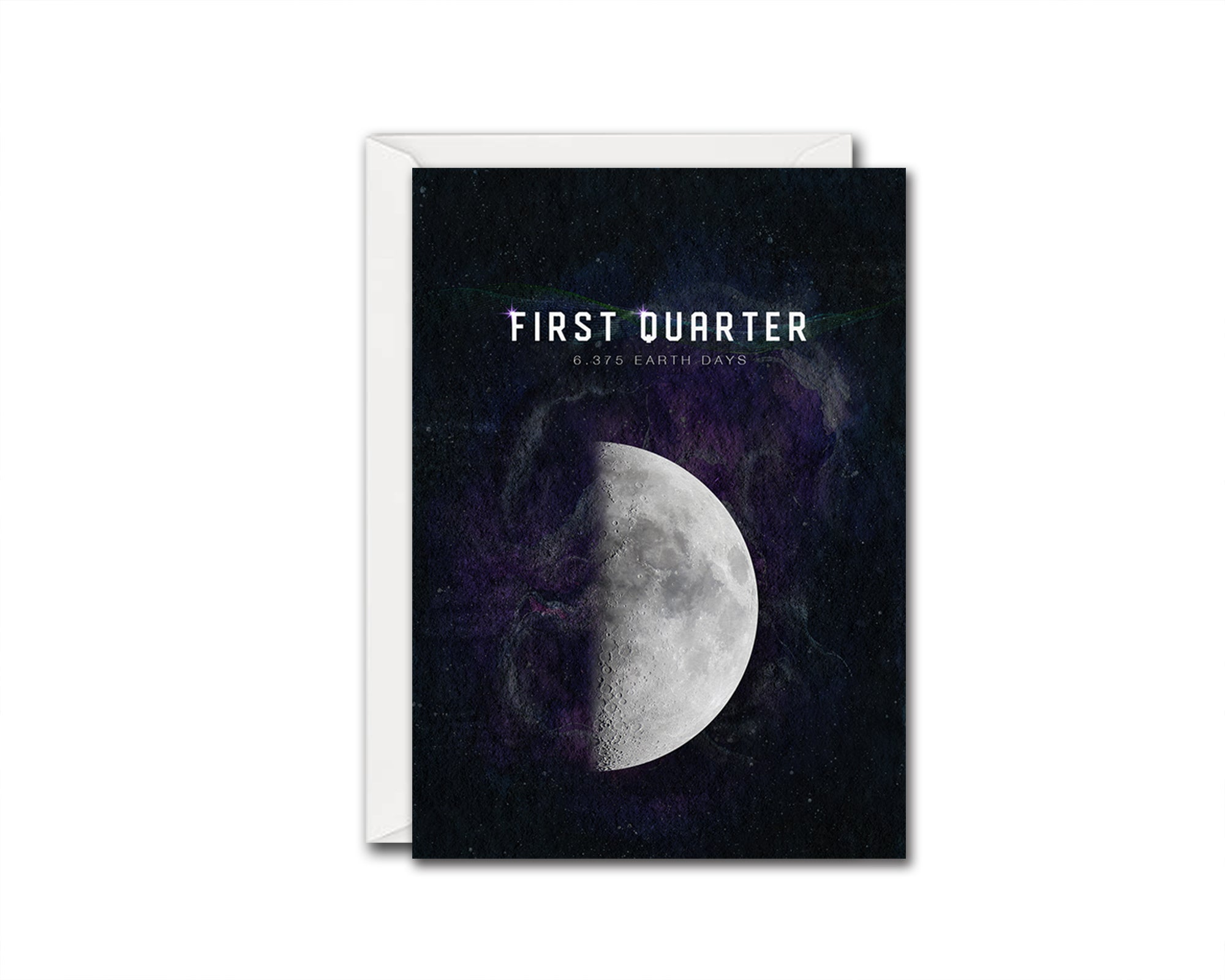 First Quarter Moon Lunar Phases Customizable Greeting Card