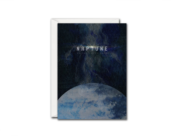 Neptune Planet Orbiting Stars Solar System Customizable Greeting Card