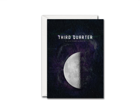 Third Quarter Moon Lunar Phases Customizable Greeting Card