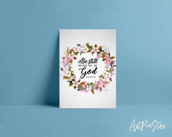 Be still and know that I am God Psalm 46:10 Bible Verse Customized Greeting Card