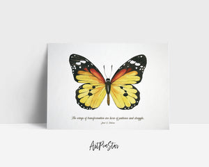 The wings of transformation are born of patience Janet Dickens Butterfly Animal Greeting Cards