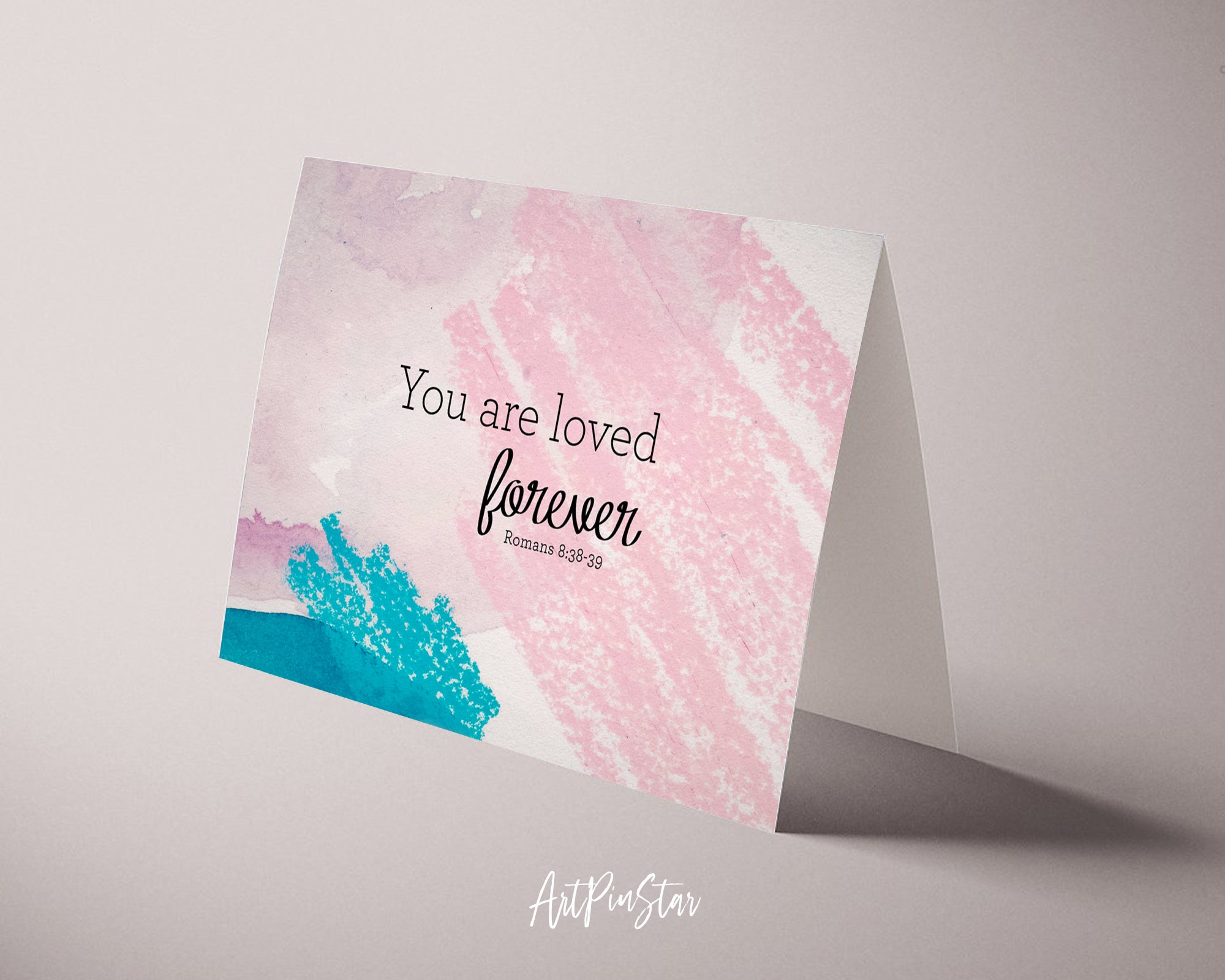 You are loved forever Bible Verse Customized Greeting Card