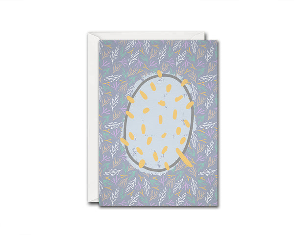 Alphabet Forest Letter Q Animal Monogram Note Cards