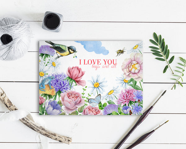I Love You Bugs and All Friendship Customized Greeting Card
