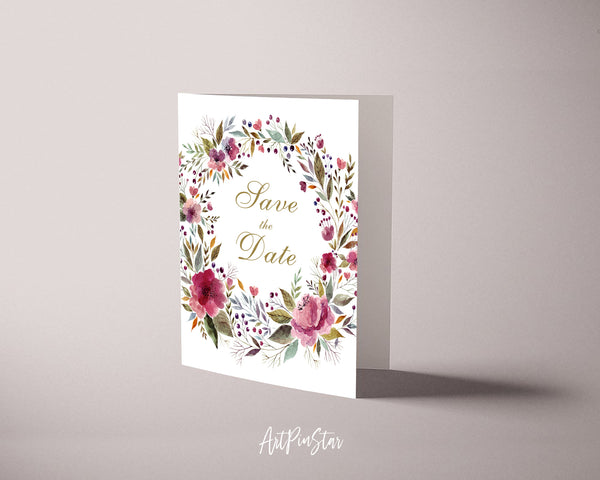 Love The Date Happiness Quote Customized Greeting Cards
