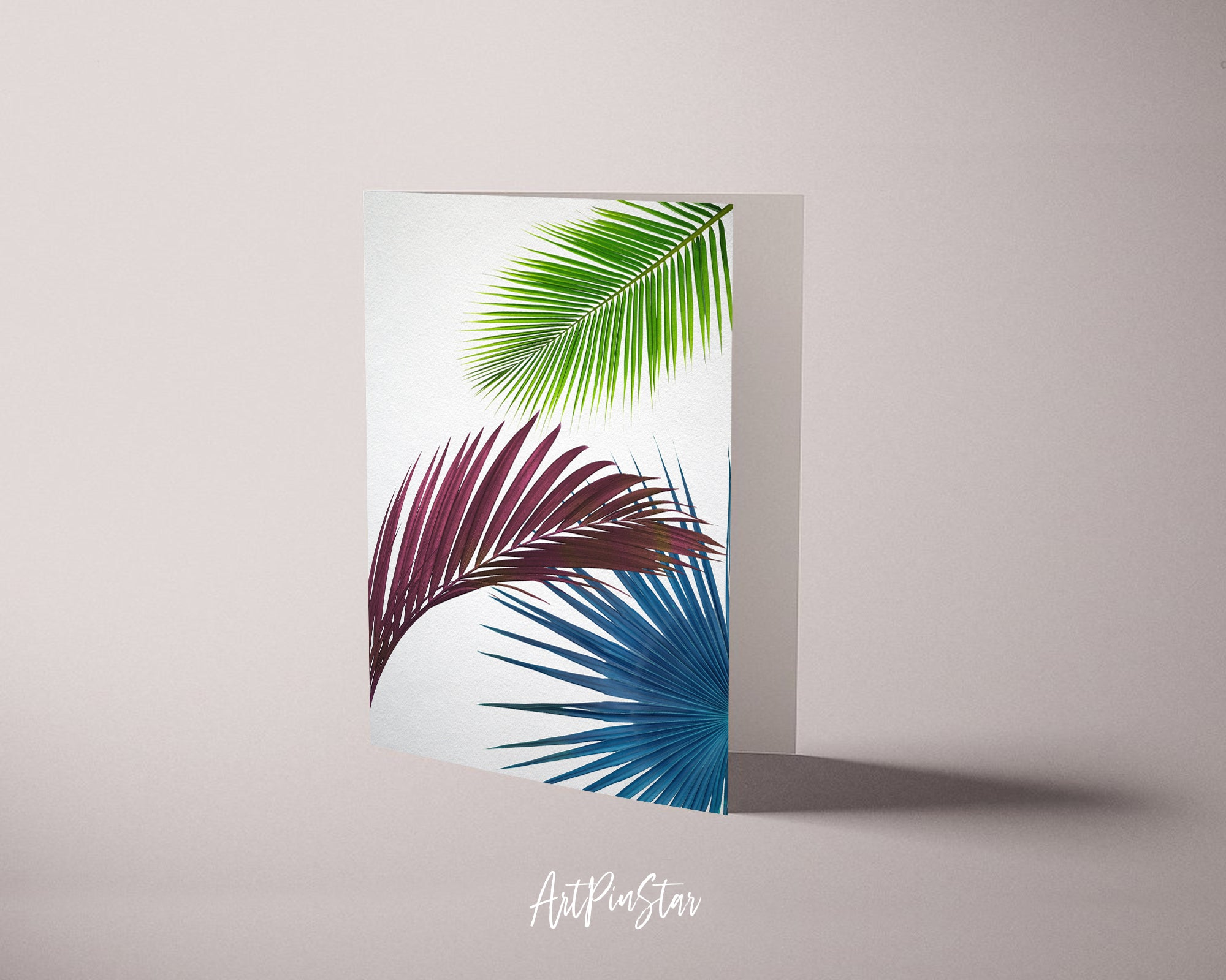 Green Leaves of Palm Tree Botanical Garden Customized Greeting Card