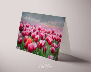 Tulips Flower Photo Art Customized Gift Cards