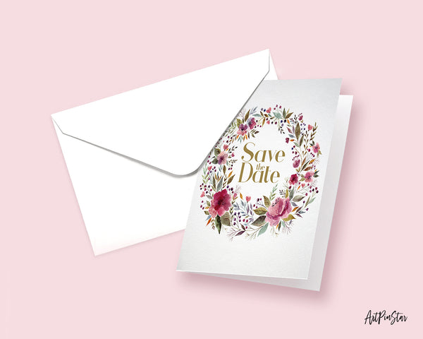 Save the Date Happiness Quote Customized Greeting Cards