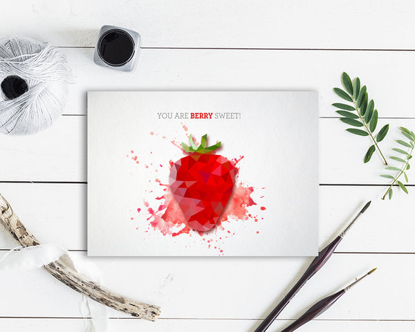 You are berry sweet Food Customized Gift Cards