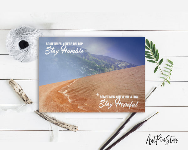 Sometimes you're on top stay humble Sometimes Bible Verse Customized Greeting Card