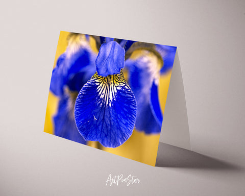 Iris Flower Photo Art Customized Gift Cards