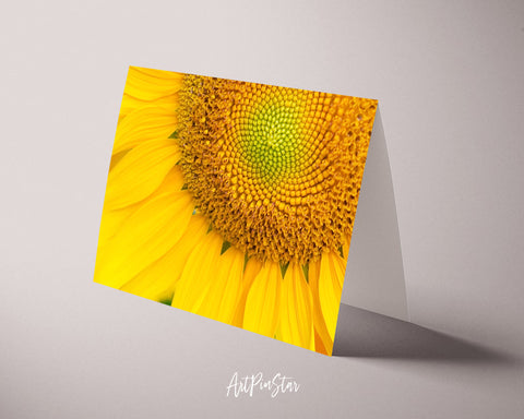 Sunflower Flower Photo Art Customized Gift Cards